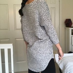 Express long slouchy knit sweater